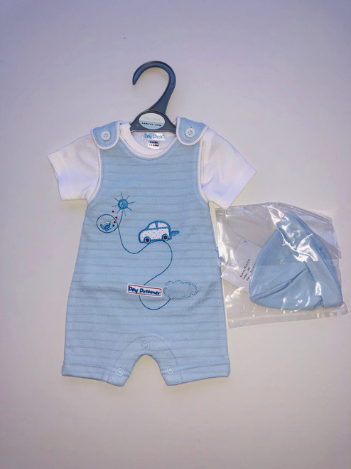 Premature 3 piece dungaree set