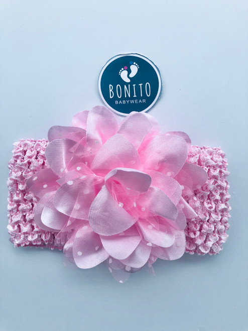 Big flower hairband pink