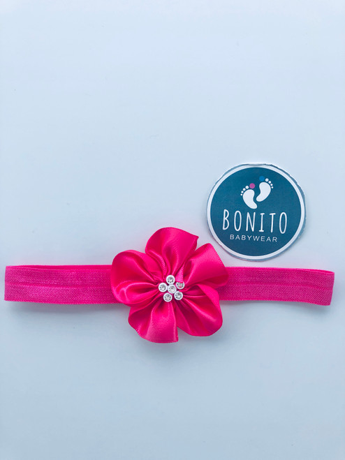 Diamanté hairband pink