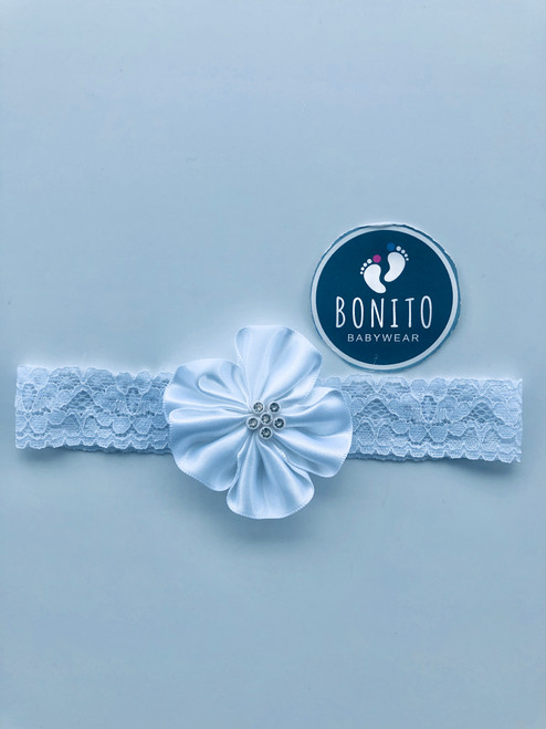Diamanté hairband white