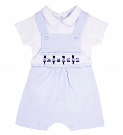 Blues baby dungaree set