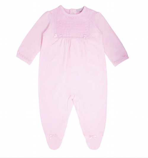 Blues baby grow pink