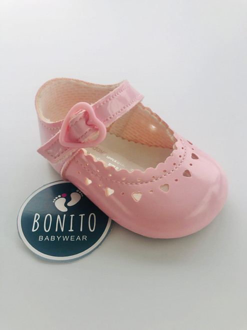 Baypod soft sole heart shoe pink