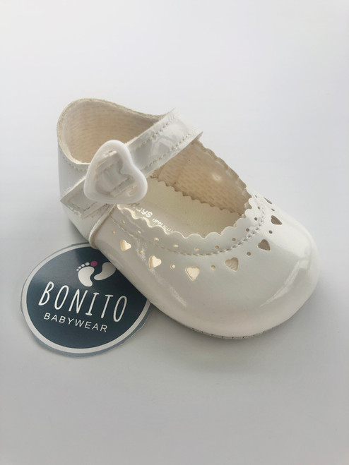 Baypod Soft sole heart shoe white