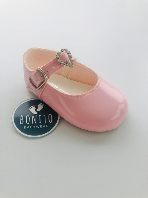 Baypod soft sole diamanté pink