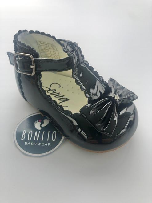 Hard sole shoe with diamanté black