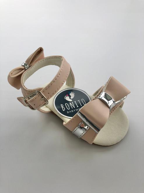 Sandal pink/silve