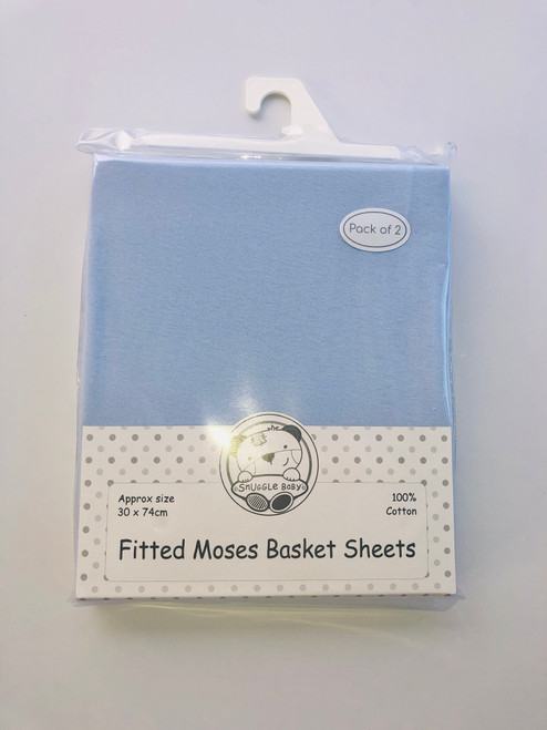 Cotton pack of two mosses sheets blue