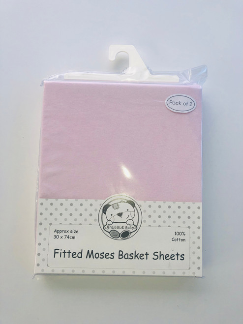 Cotton pack of two mosses sheets in pink