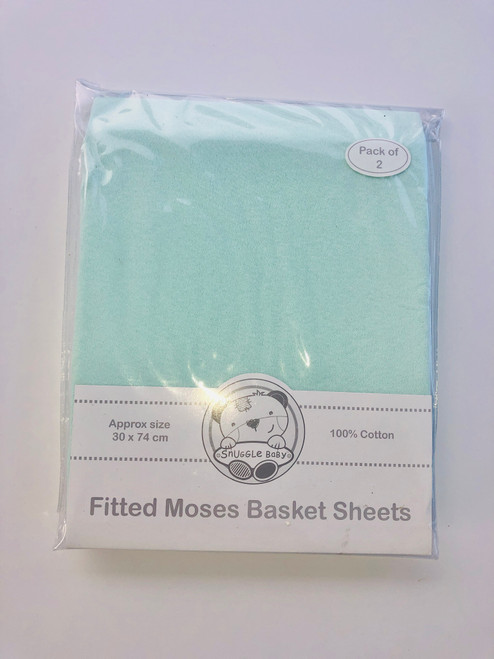 Cotton pack of two mosses sheets mint