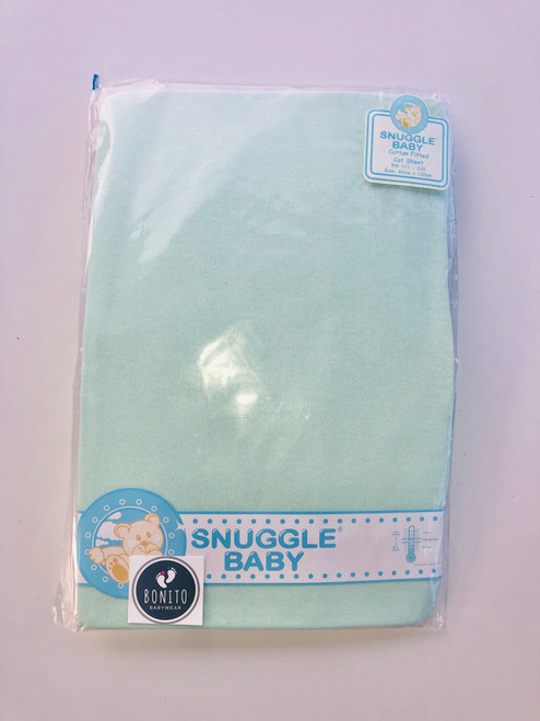 Cotton pack of two fitted pram sheets mint