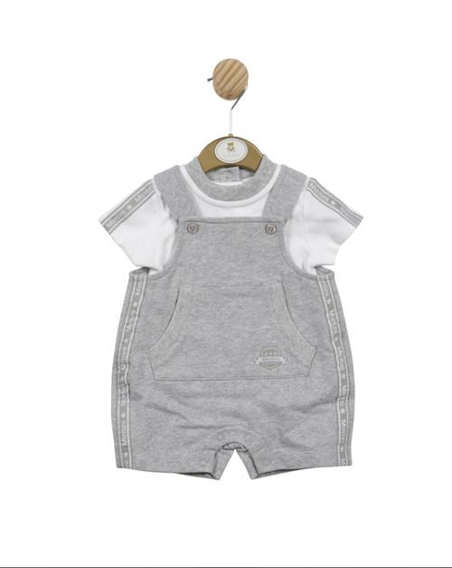 Mintini top/dungaree grey