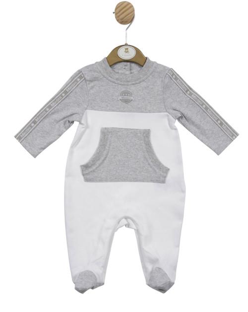 Mintini grey/white baby grow