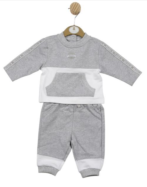 Mintini grey/white jog suit