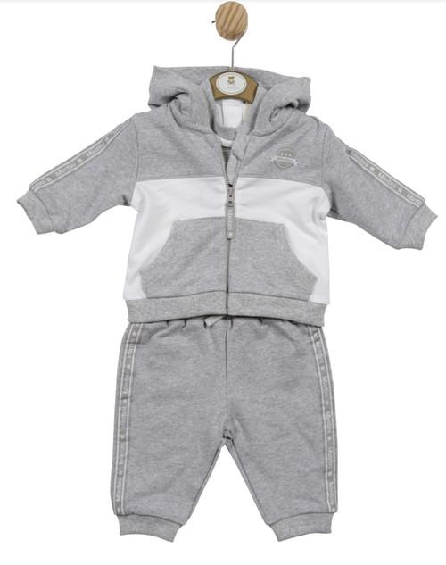Mintini 3 pc jog suit grey/white