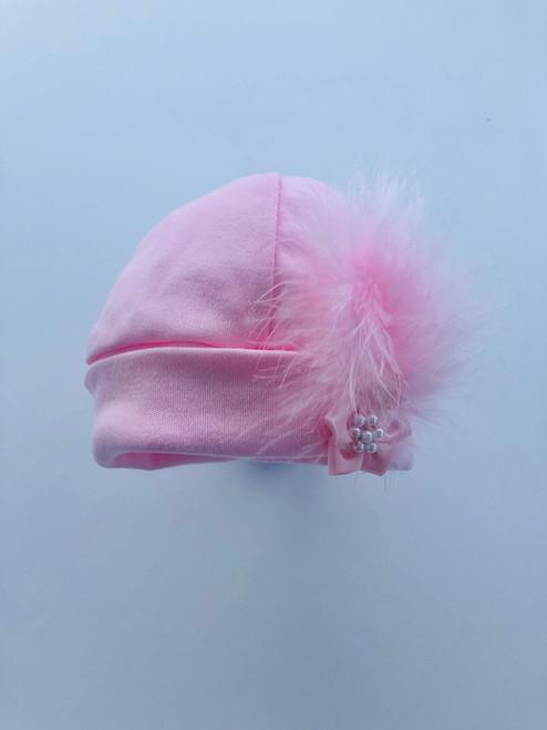 Fluffy hat pink