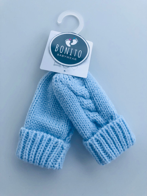 Chunky mitts  blue