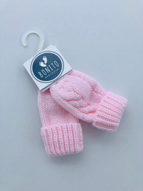 Chunky mitts Pink