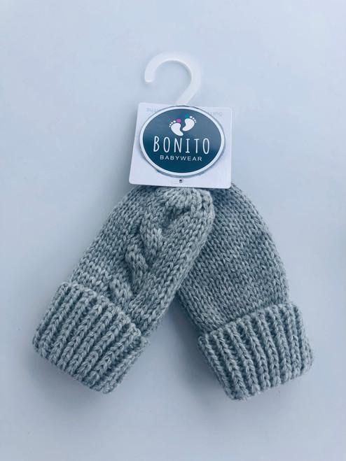 Chunky mitts grey