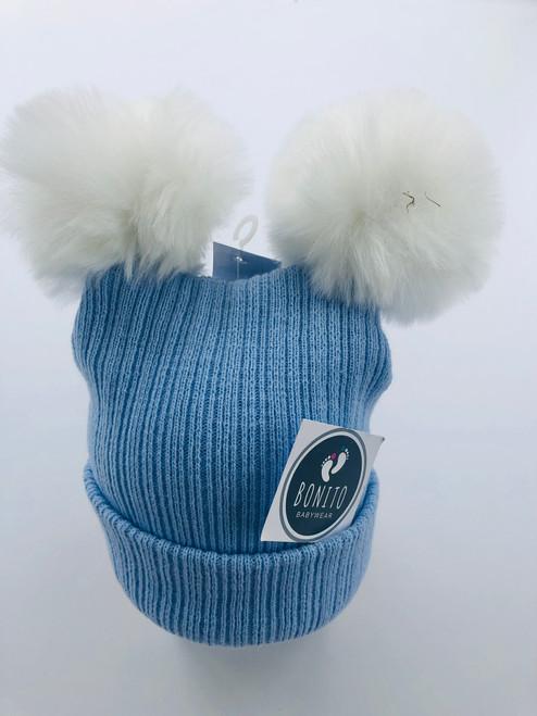 2 Pom hat blue
