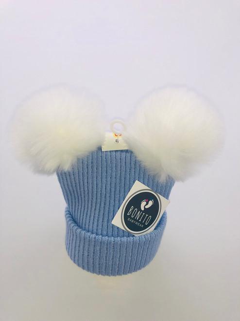 2 Pom hat white