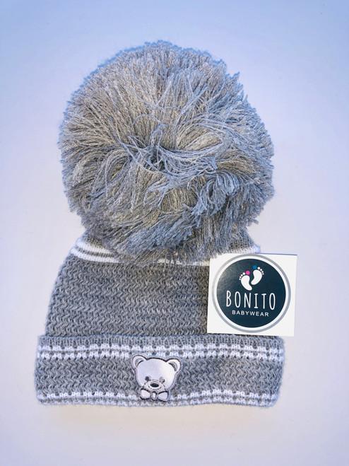 Small teddy hat grey
