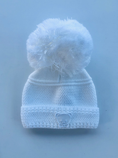 Small teddy  hat white