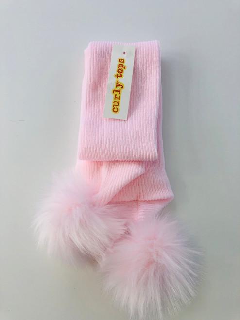 Pom-Pom scarf pink
