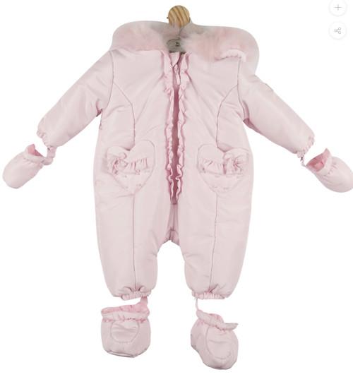 Mintini snowsuit pink