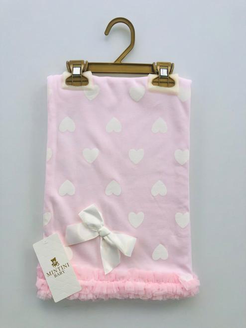 Mintini heart blanket pink