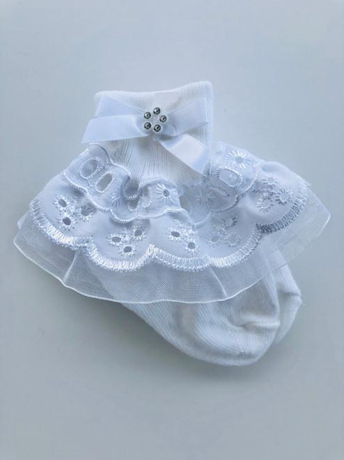 White fancy socks