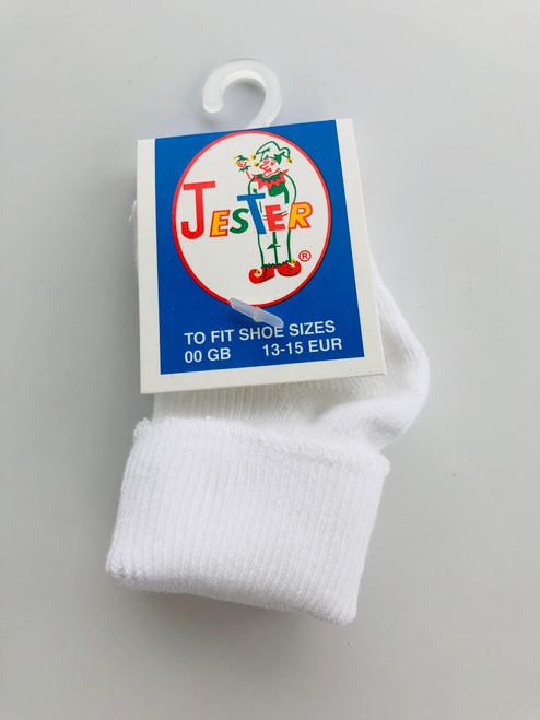 Premature socks white