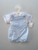 Blue stripe short dungaree set