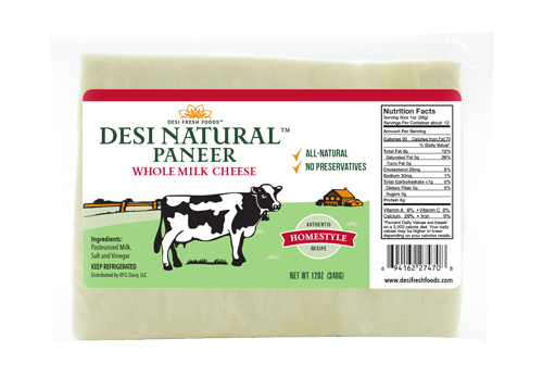 Desi Paneer - Whole Milk Paneer Slab