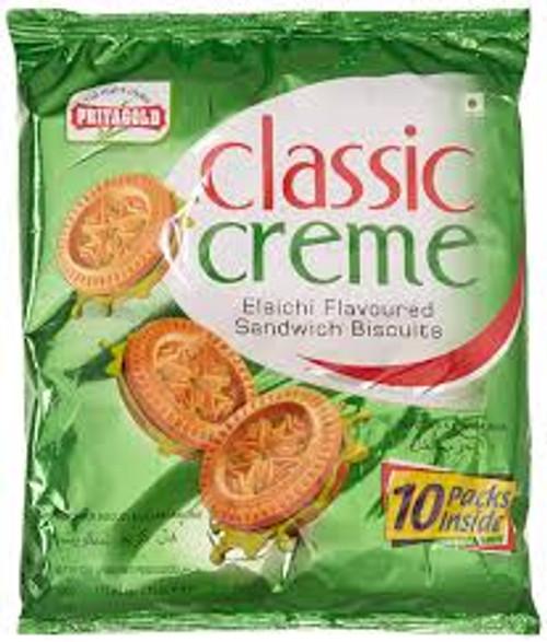 Priyagold Classic Creme Sandwich Biscuits, Elaichi, 500g