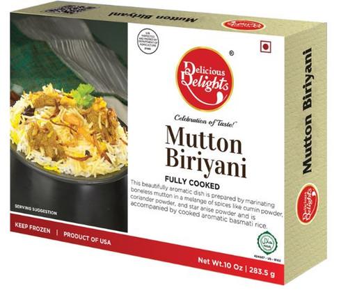 Delicious Delight, Mutton Biryani - 10oz