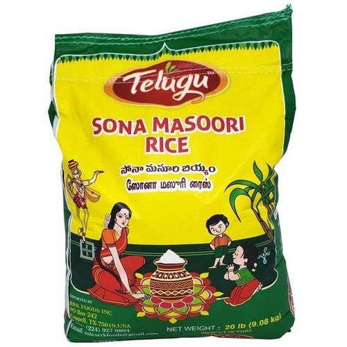 Telugu,  Sona Masoori Rice 20lb