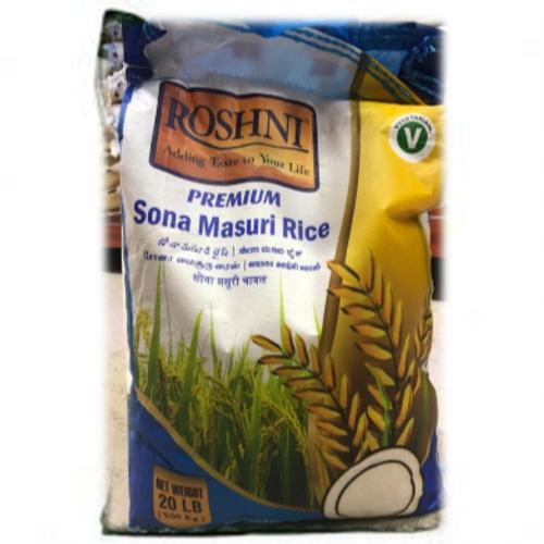 Roshni,  Sona Masoori Rice 20lb
