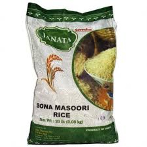 Janata,  Sona Masoori Rice 20lb