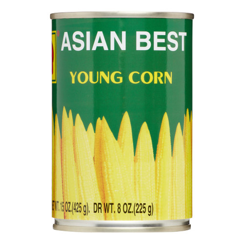 Asian Best,  Young Corn Whole in Brine  - 225g