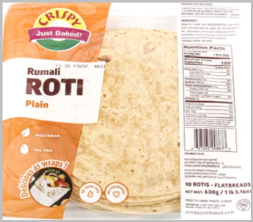 Crispy, Roti - Rumali Plain (15 Pack)