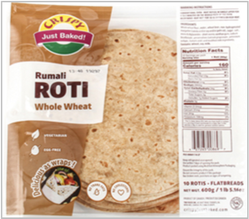 Crispy, Roti - Rumali Whole Wheat (15 Pack)