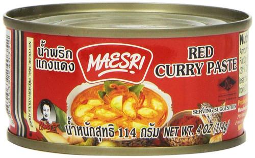 Maesri, Thai Red Curry Paste - 4 oz