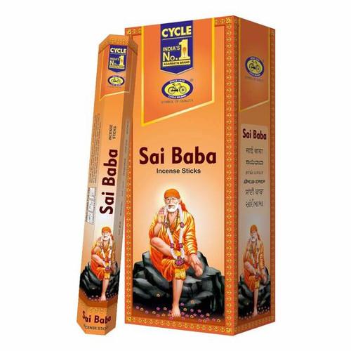 Cycle,  Sai Baba Incense Sticks (Agarbatti) - 6 pack
