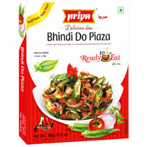 Priya, Ready To Eat Bhindi Do Piaza - 300gm