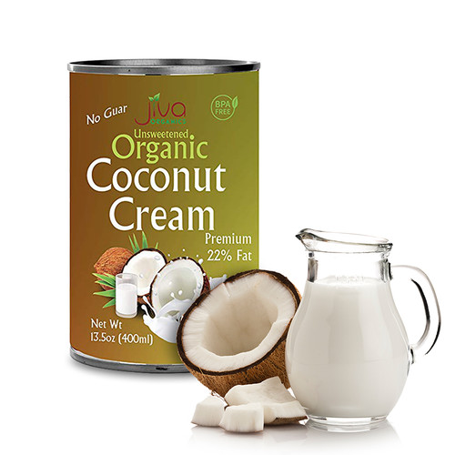 Jiva Organics,  Unsweetened Coconut Cream - 400ml