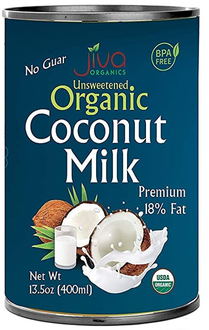 Jiva Organics,  Unsweetened Coconut Milk - 400ml