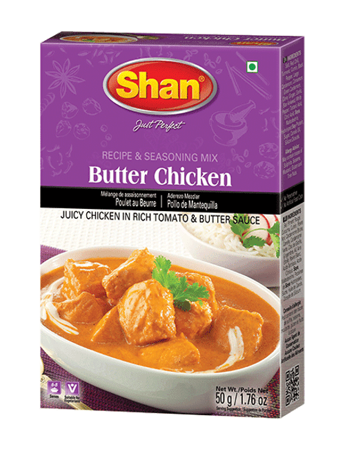Shan, BUTTER CHICKEN MIX - 50gm