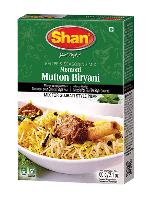 Shan, MEMONI MUTTON BIRYANI MIX - 60gm