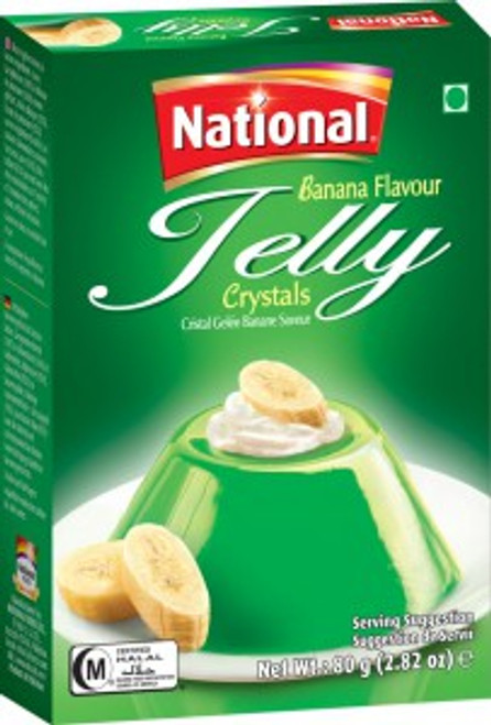 National Foods, Jelly Crystal Banana- 80gm